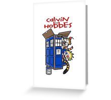 Calvin And Hobbes Tatdis dr Who Greeting Card