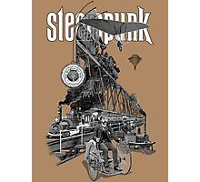 Steampunk vintage engraving collage Photographic Print