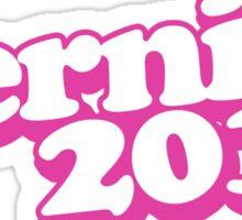 Retro Pink Bernie 2016 Sticker