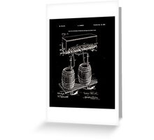 Art Of Brewing Beer Patent Greeting Card