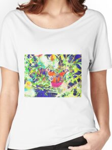 peacock butterfly Women's Relaxed Fit T-Shirt