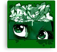 Graffiti WATCH (green) Canvas Print