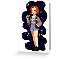 Super 90's Scully unlocked Greeting Card