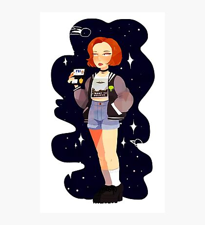 Super 90's Scully unlocked Photographic Print