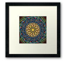 mandala circle lines Framed Print