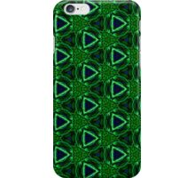 Pattern 71: Blue green pattern with triangles iPhone Case/Skin