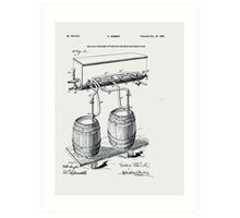 Art Of Brewing Beer Patent Art Print