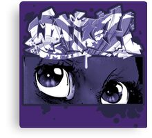 Graffiti WATCH (purple) Canvas Print