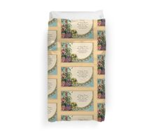 Happy Easter, victorian, people, church scene, verse Duvet Cover