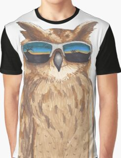 Shady Owl Graphic T-Shirt
