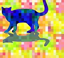Cubist Cat by MAMMAJAMMA