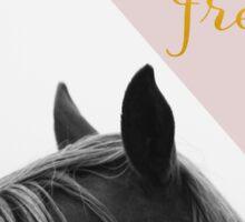 Wild & Free (Pink Horse) Sticker