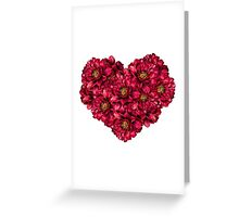 Heart of peonies Greeting Card
