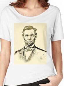 President of the United States of America Abraham Lincoln Women's Relaxed Fit T-Shirt