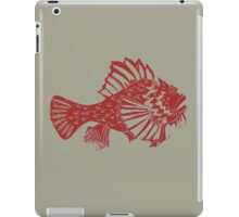 THE REDSCORPION FISH  (red on clear mud ) iPad Case/Skin