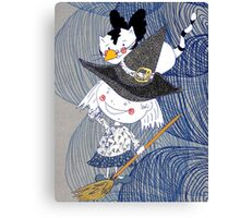 Little witch Nora and Titu Canvas Print