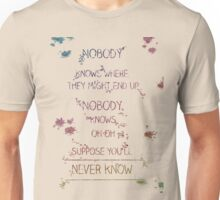 "Grey's anatomy - "" We have to dance it out, thats how we finish"" - Meredith Grey Unisex T-Shirt"