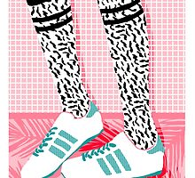 Aiight - tennis shoes athlete fashion shoe sports game palm springs socal country club retro throwback 1980s  by wackadesigns