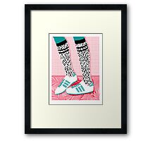 Aiight - tennis shoes athlete fashion shoe sports game palm springs socal country club retro throwback 1980s  Framed Print