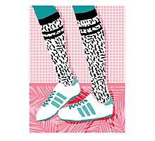 Aiight - tennis shoes athlete fashion shoe sports game palm springs socal country club retro throwback 1980s  Photographic Print