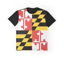 Maryland Flag Graphic Tee Graphic T-Shirt