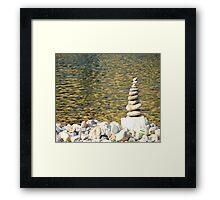 Stones Of Balance Framed Print