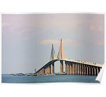 Sunshine Skyway Bridge over Tampa Bay FL Poster