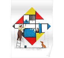 Mondri an' his house Poster