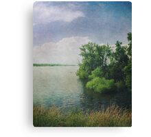 She Sat in the Sunshine and Watched the Clouds Canvas Print