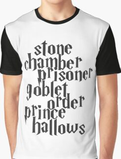 Stone Chamber Prisoner Goblet Order Prince Hallows Graphic T-Shirt