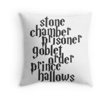 Stone Chamber Prisoner Goblet Order Prince Hallows Throw Pillow