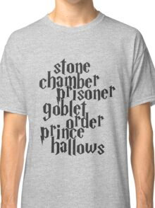 Stone Chamber Prisoner Goblet Order Prince Hallows Classic T-Shirt