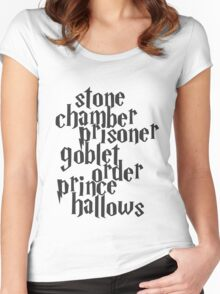 Stone Chamber Prisoner Goblet Order Prince Hallows Women's Fitted Scoop T-Shirt