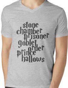 Stone Chamber Prisoner Goblet Order Prince Hallows Mens V-Neck T-Shirt