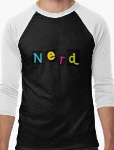 colorful text Nerd T-Shirt