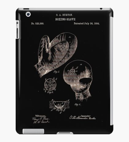 Boxing Gloves Patent 1894 iPad Case/Skin