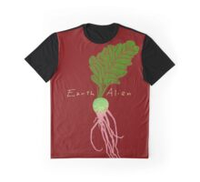 Earth Alien Watermelon Radish Graphic T-Shirt