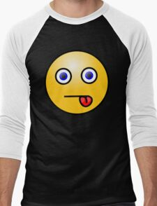 Smiley Right Tongue Blue Eyes T-Shirt