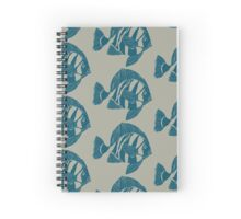 TROPICAL FISH (BLUE ON CLEAR MUD) Spiral Notebook