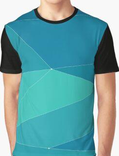 turquoise horizontal polygonal   Graphic T-Shirt