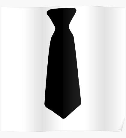 Neck Tie Black Poster