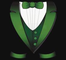 leprechaun suit st patricks day green Irish tuxedo Kids Tee