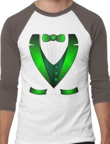 leprechaun suit st patricks day green Irish tuxedo Men's Baseball ¾ T-Shirt