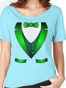leprechaun suit st patricks day green Irish tuxedo Women's Relaxed Fit T-Shirt