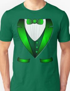 leprechaun suit st patricks day green Irish tuxedo Unisex T-Shirt