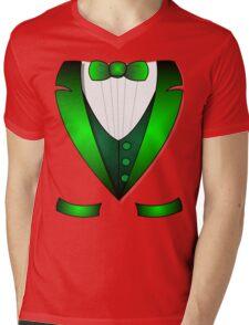 leprechaun suit st patricks day green Irish tuxedo Mens V-Neck T-Shirt