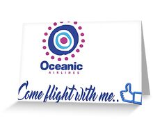 lost-oceanic airlines Greeting Card