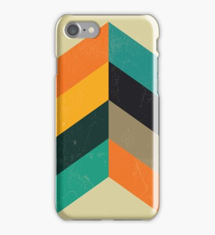 Mid Century Chevron Art iPhone Case/Skin