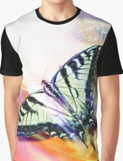 Rainbow Butterfly Graphic T-Shirt