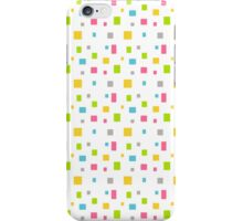 Color round cubes background iPhone Case/Skin